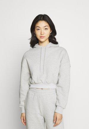 ESSENTIAL OVERSIZED CROPPED HOODIE - Sweatshirt - grey marl