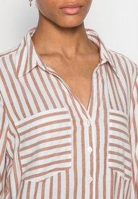 TOM TAILOR DENIM - STRIPED COZY  - Button-down blouse - grey white vertical stripe - 4