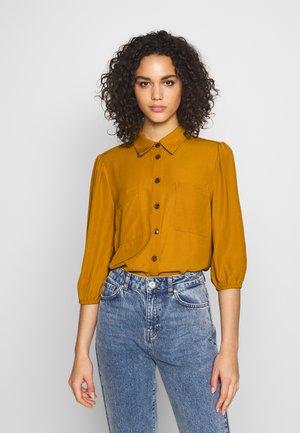 OBJMAE - Button-down blouse - buckthorn brown