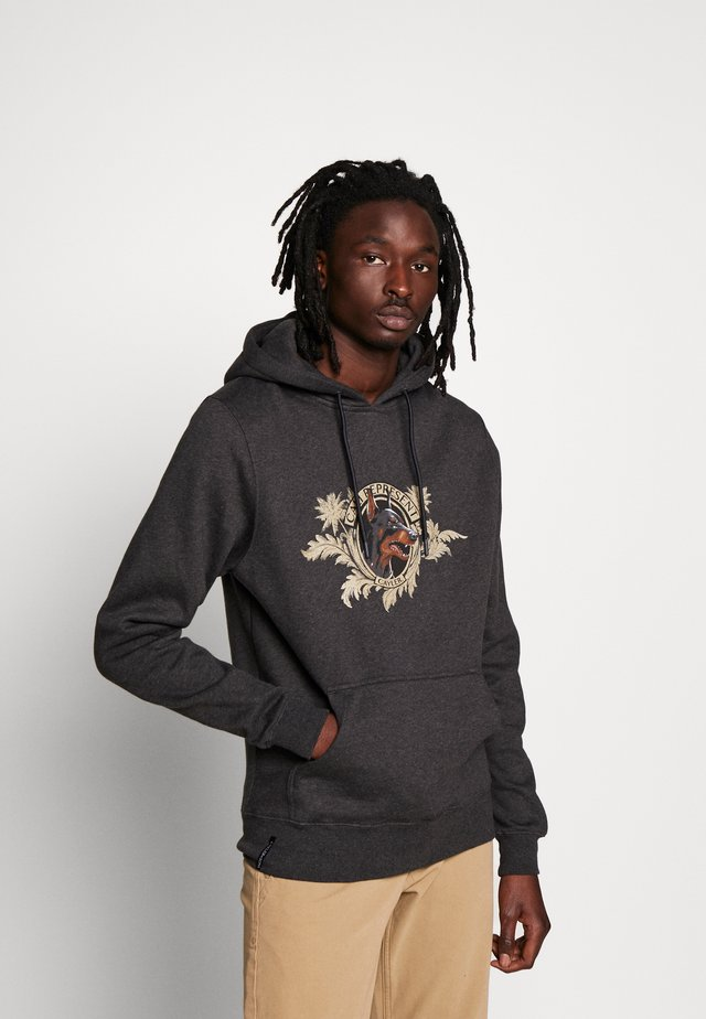 WHOOO HOODY - Sweat à capuche - charcoal