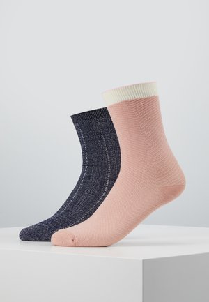DANA HERRINGBONE FRILL DRAKE SOCK 2 PACK - Socken - rose/medieval