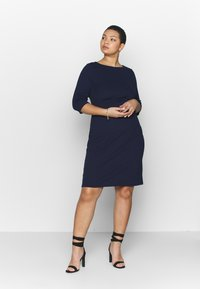 Dorothy Perkins Curve - EMPIRE WAIST BODY CON DRESS - Jersey dress - navy - 1