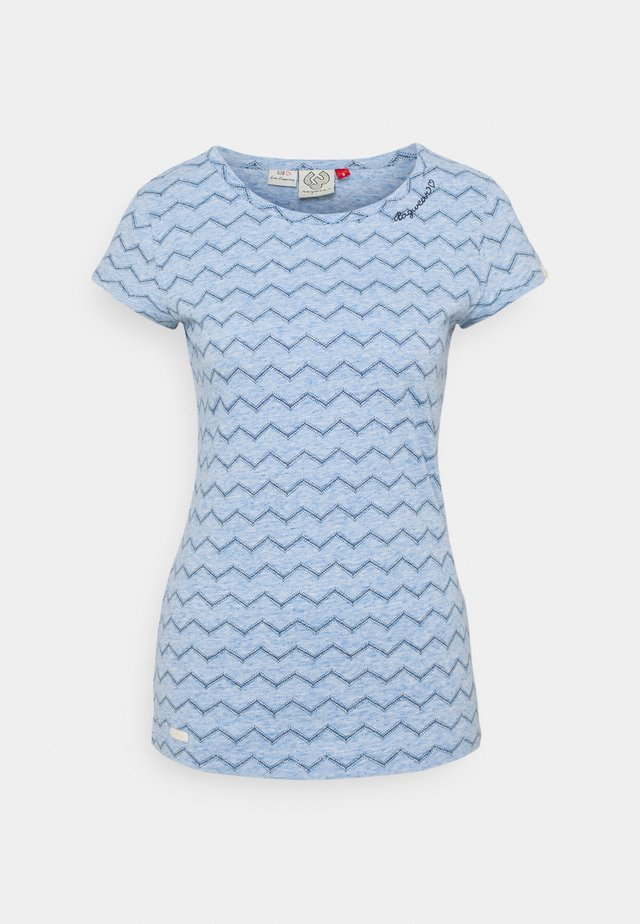 CHEVRON - T-shirt print - blue