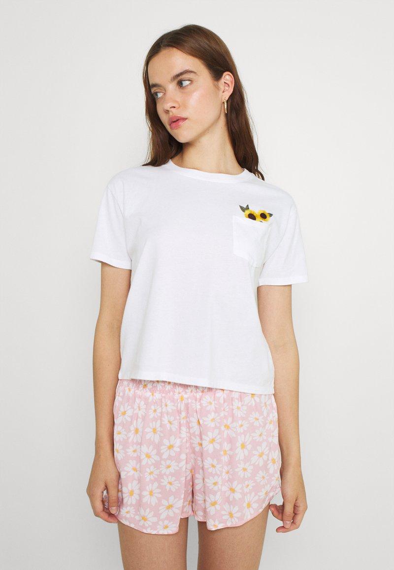 Hollister Co. - CREW - Print T-shirt - white