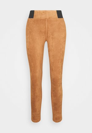 TREGGING WITH ELASTIC TAPE - Leggings - Trousers - light chestnut