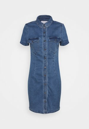 NMJOY DRESS - Denim dress - medium blue denim