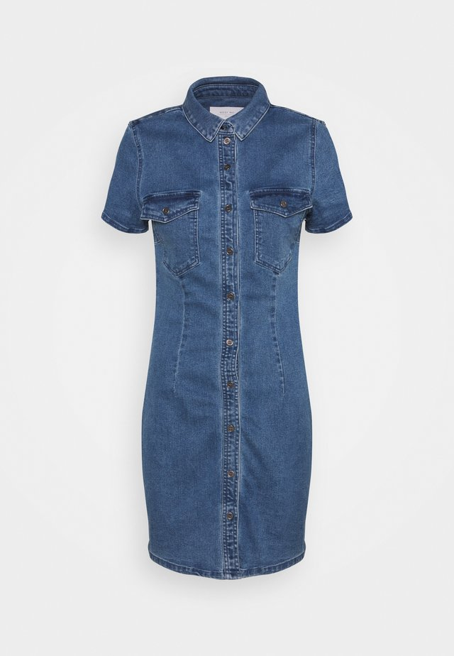 NMJOY DRESS - Spijkerjurk - medium blue denim
