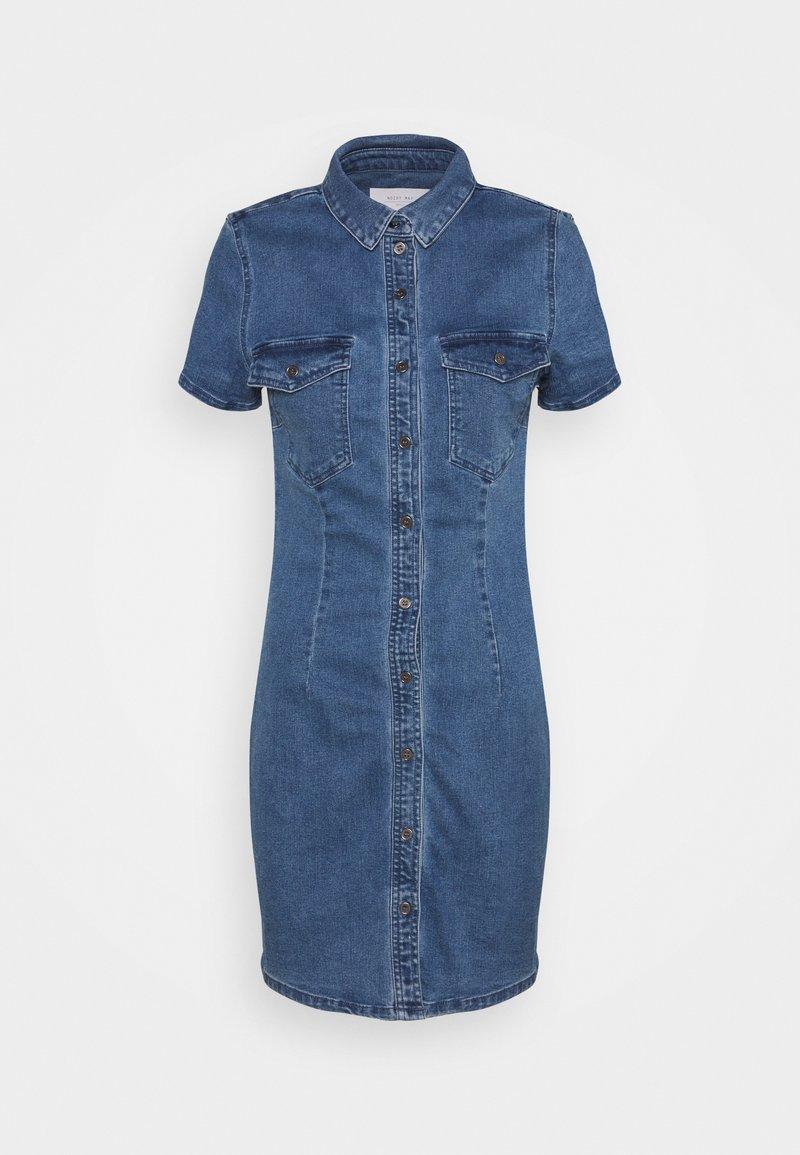 Noisy May - NMJOY DRESS - Denim dress - medium blue denim