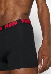 Puma - HERITAGE STRIPE BOXER 2 PACK - Culotte - red/black - 4