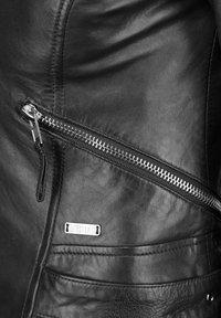 Mustang - MIT HEMDKRAGEN - Leren jas - black - 2