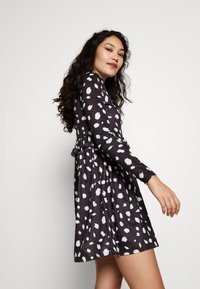 Missguided Tall - DALMATION FRILL WAIST DRESS - Day dress - black - 3