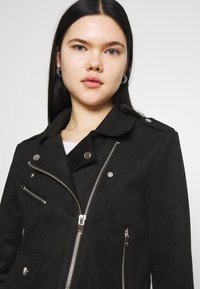 ONLY - ONLSHERRY BIKER - Veste en similicuir - black - 3