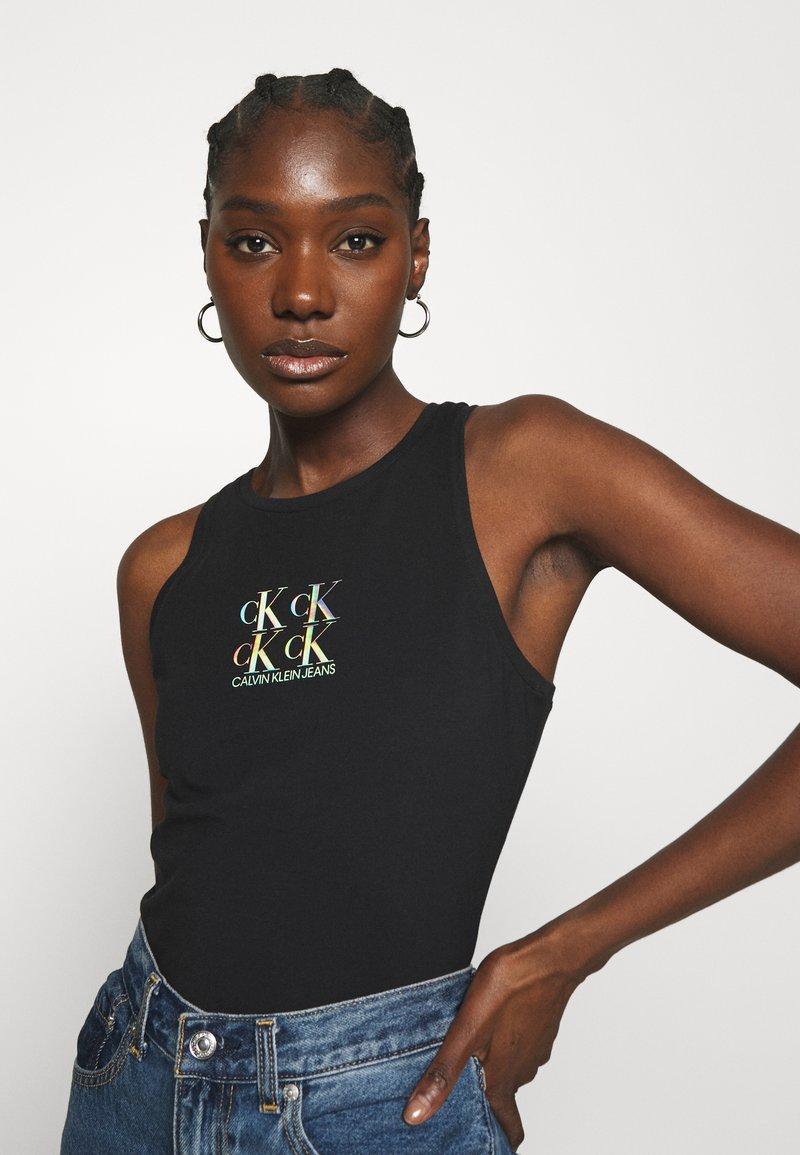 Calvin Klein Jeans - SHINE LOGO RACER BACK - Top - black