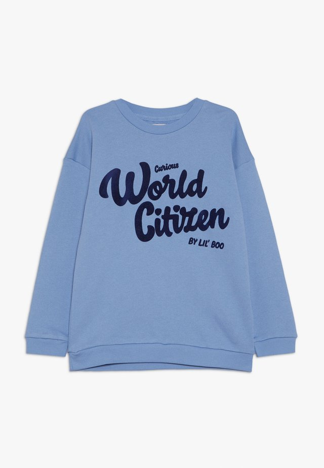 CURIOUS WORLD CITIZEN - Sweatshirt - allure blue