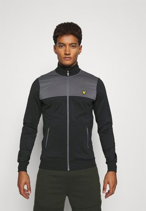TECH TRACK JACKET - Kurtka sportowa - true black/rock grey