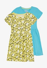 Lemon Beret - SMALL GIRLS DRESS 2 PACK - Žerzejové šaty - bachelor button - 3