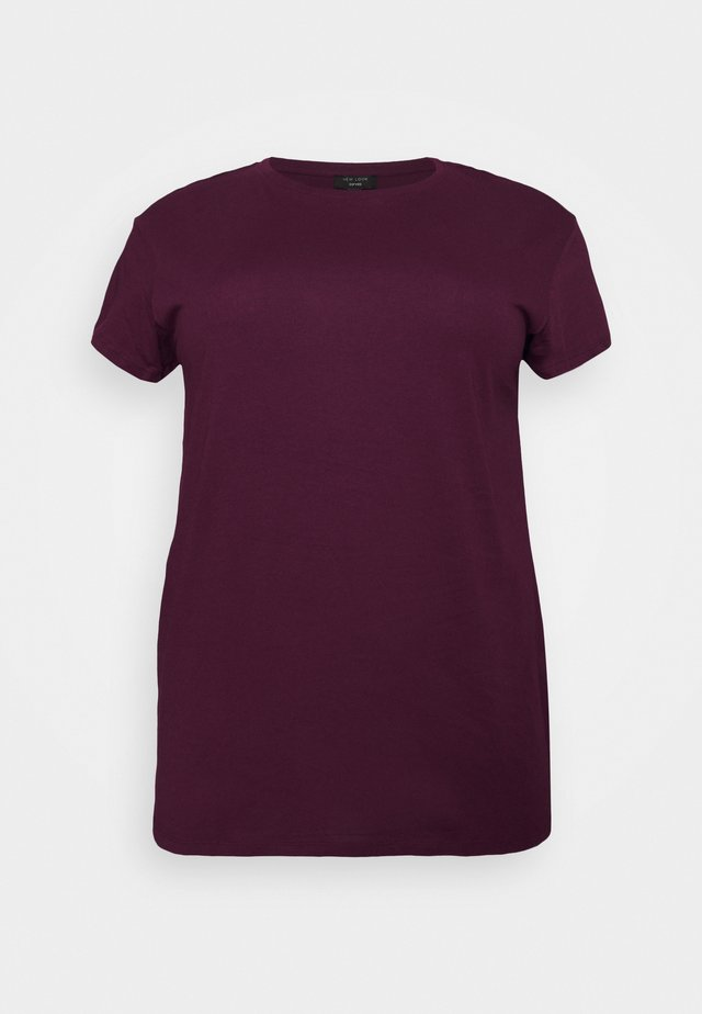 BOYFRIEND TEE - Basic T-shirt - dark burgundy