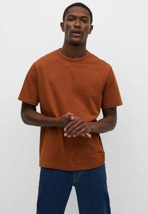 T-shirt basic - orange brûlé