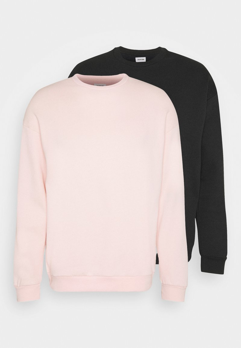 YOURTURN - 2 PACK UNISEX - Sweatshirt - black