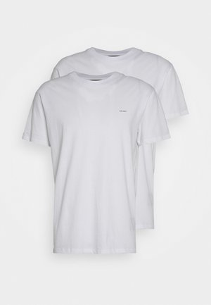 2 PACK - Basic T-shirt - white with black print