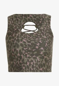 PRINTED CRISS CROSS CROP TOP - Topper - spring leopard