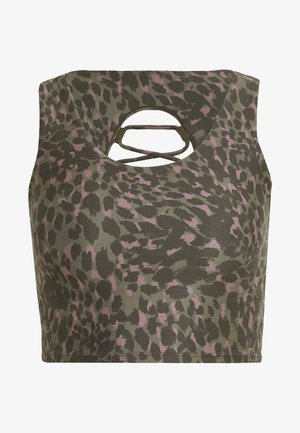 PRINTED CRISS CROSS CROP TOP - Top - spring leopard