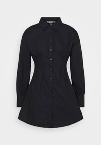 Missguided Petite - CORSET STITCHING DRESS - Shirt dress - black - 0