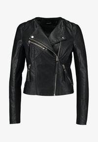 VMRIA SHORT JACKET - Faux leather jacket - black