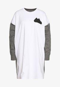 DRESS - Jumper dress - grey melange
