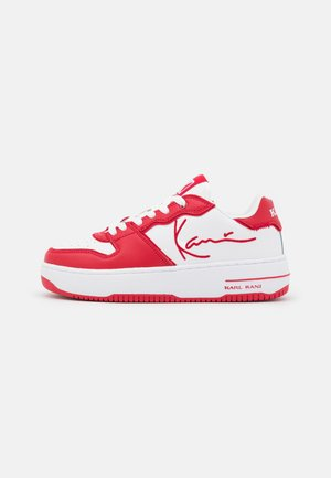 89 UP LOGO - Sneakers laag - true red/white