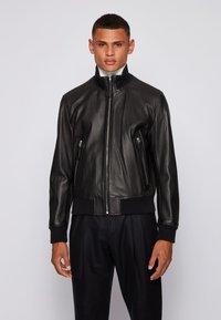 BOSS - NEOVEL - Leather jacket - black - 0