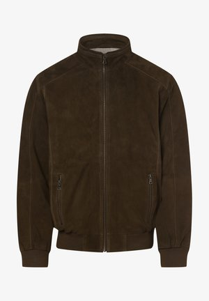OSCAR - Leather jacket - oliv