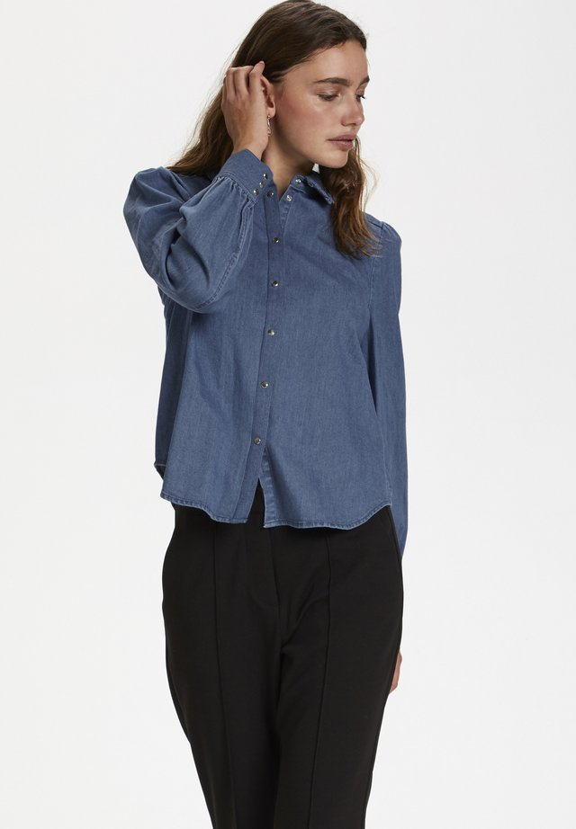 SL TINATIN - Button-down blouse - classic blue denim