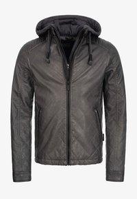 ECKROTE - Faux leather jacket - raven