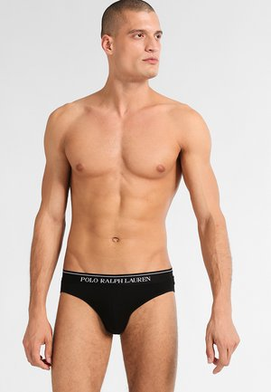 LOW RISE BRIEFS 3 PACK - Briefs - black