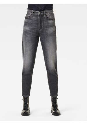 JANEH ULTRA HIGH MOM ANKLE WMN - Vaqueros slim fit - black denim