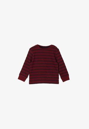 Long sleeved top - bordeaux stripes
