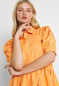 Missguided - OVERSIZED SHIRT MIDI DRESS - Maxi dress - orange - 3