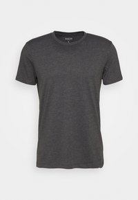 Burton Menswear London - SHORT SLEEVE CREW 3 PACK - T-shirt basic - black/charcoal/burgundy - 3