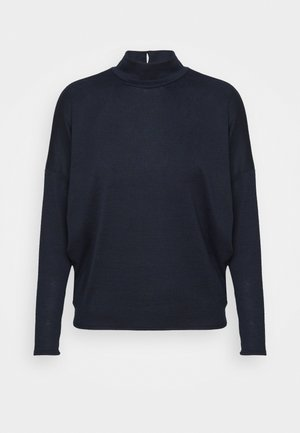 CUT AND SEW HIGH NECK DOLMAN - Jumper - ink