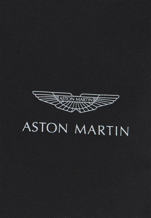 Hackett Aston Martin Racing AMR RACE TEAM - Koszulka polo - black/czarny Odzież Męska SUIK