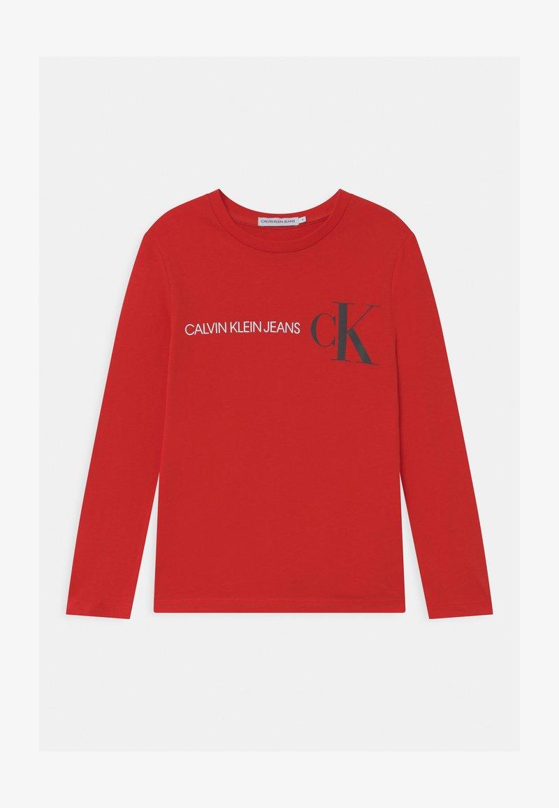 Calvin Klein Jeans - REFLECTIVE LOGO  - Bluzka z długim rękawem - red
