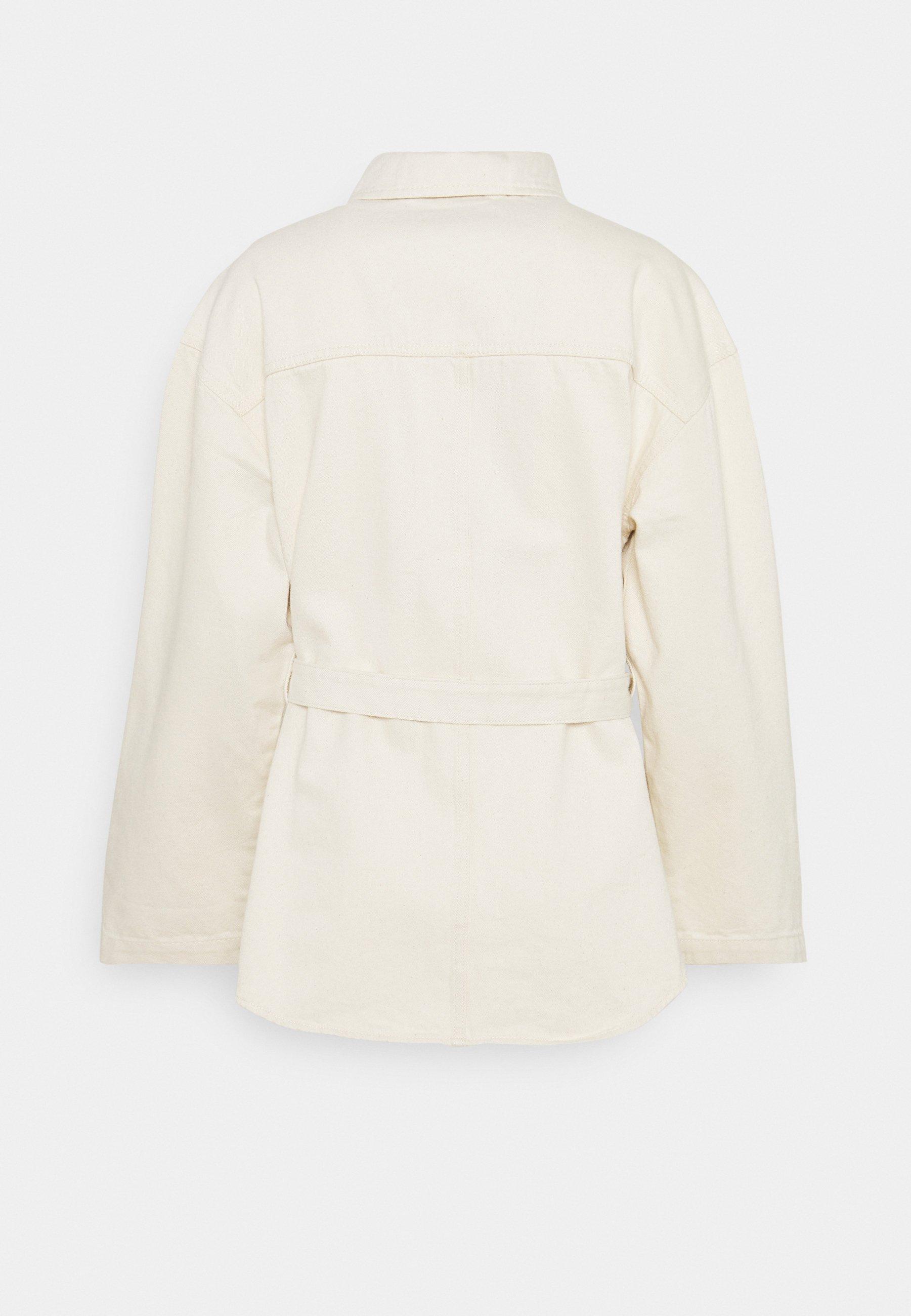 Women BELTED SHACKET - Denim jacket