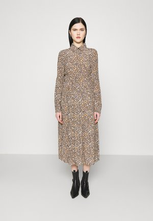 LONG SLEEVE MIDI DRESS WITH BUTTON DETAIL - Denní šaty - navy/multi