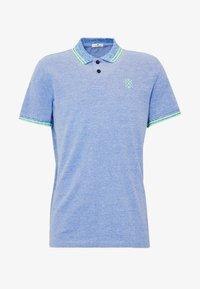 TWO-TONE TIPPING POLO - Polo shirt - blue