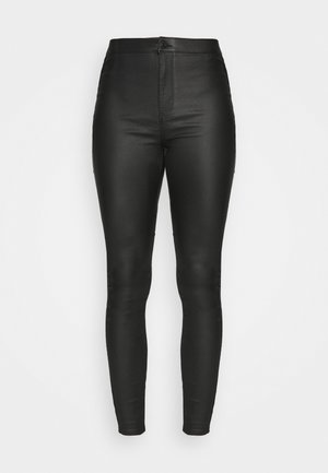 VMJOY COATED PANTS MIX - Bukse - black
