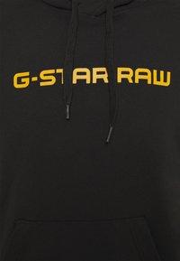 G-Star - GRAPHIC CORE HDD SW L\S - Luvtröja - dark black - 2