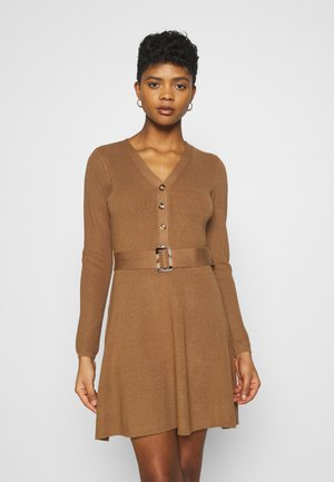 FLARE DRESS - Jumper dress - camel
