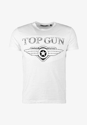 SCHLICHT BLING - T-shirt print - white
