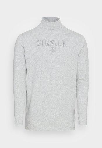 TURTLE NECK GYM TEE - Maglietta a manica lunga - grey marl